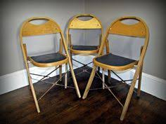 Stakmore Folding Chairs Vintage Vtg Pair Stakmore Wood Folding Chairs Mid Century Dining Art Deco