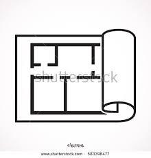 Icon Floor Plan House Plan Icon Floor Plan Vector Stock Vector 586377692