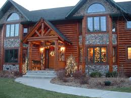 Home Decorated For Christmas by Golden Eagle Log Homes Log Home Cabin Pictures Photos Custom