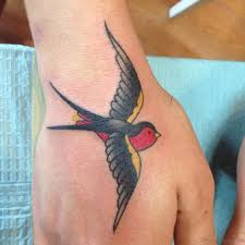 Barn Swallow Tattoo Designs 42 Unique Swallow Tattoos On Hand