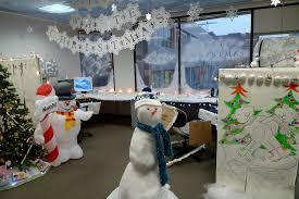 white christmas office decorations
