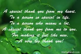 a special thank you from my thank you message