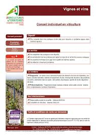 chambre d agriculture de l yonne calaméo conseil individuel en viticulture