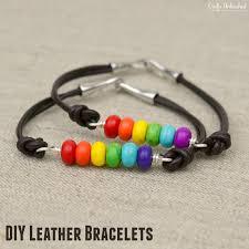 beaded bracelet leather images Diy leather bracelet rainbow beads crafts unleashed jpg