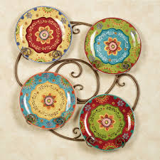 tunisian sunset ceramic dinner plate set