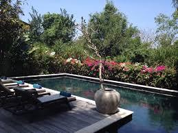 pool with flowers hidden villa bali