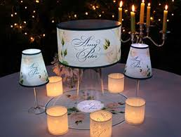 personalized centerpieces and lampshades that light up for special