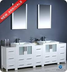 84 inch double sink bathroom vanities modern double sink bathroom vanity w three side cabinets 84 inch