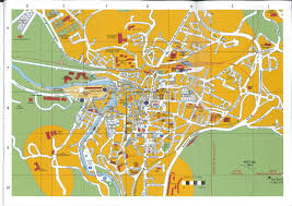 Lourdes France Map by