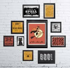 halloween gallery wall art prints free printable printables