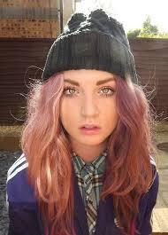 pink nose rings images Nose ring pink hair beanie girl green eyes skater indie jpg