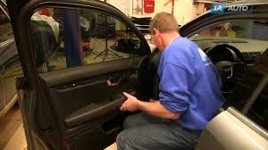 How To Replace Exterior Door by How To Remove Install Front Door Panel 2003 08 Audi A4 Youtube