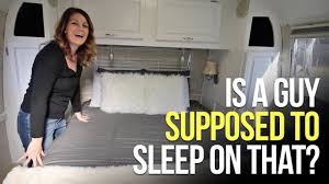 airstream bedding u0026 table install our rv life youtube