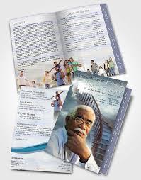 funeral program paper 2 page graduated step fold funeral program template brochure