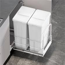 kitchen corner cabinet hinges bunnings kaboodle 2 x 35l base mount pullout bin bunnings warehouse