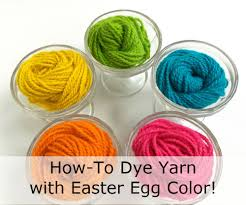 how to dye yarn with easter egg colors best easter egg dye