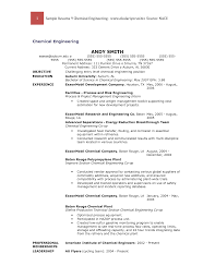 Sample Chemical Engineering Resume by Chemical Engineer Phd Resume