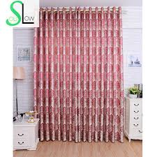 Silver And Red Curtains Slow Soul Wine Red Purple Gold Silver Black Silk Jacquard Curtains