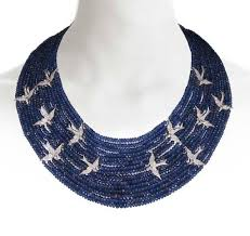 sapphire bead necklace images 197 best designer beads images fine jewelry choker jpg