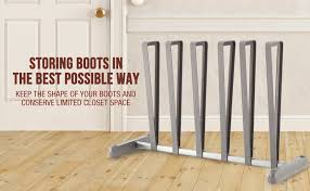 amazon com storagemaniac 3 pair boot organizer standing gray
