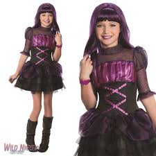 Halloween Costumes Monster High by Fancy Dress Girls Monster High Elissabat Medium 5 6 7