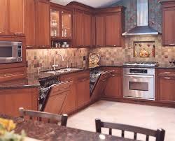 transitional kosher kitchen with cherry cabinets in skokie il