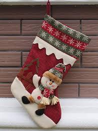 tree decoration hanging present sock in