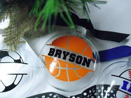 personalized sports christmas ornament u2013 a pink hippo party