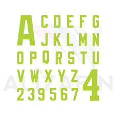 football letter and number font 3 alizarin coating canada inc