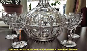 section 1059 plans dorflinger decanter wine sherry oval and split pattern four