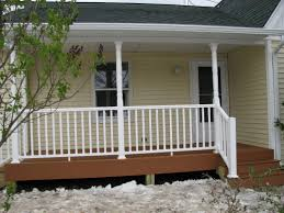 front porch remodeling idea round white columns latest wood