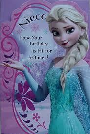 disney frozen niece birthday card amazon co uk office products