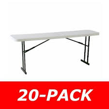 8 foot lifetime table folding conference tables 880177 8 foot white granite 20 pack
