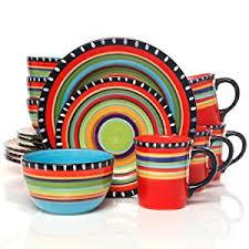 gibson elite pueblo springs 16 dinnerware set