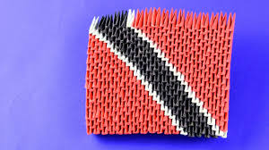 Flag For Trinidad And Tobago 3d Origami The Flag Of Trinidad And Tobago Trinidadian Flag