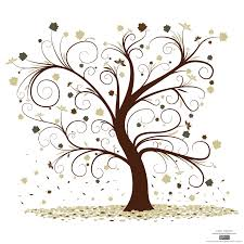 tree clip free 枝の巻いた樹 free vector curly tree design