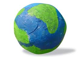 kids earthday project to make paper mache earth ziggity zoom