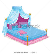 vector illustration beautiful princess bed canopy stock vector