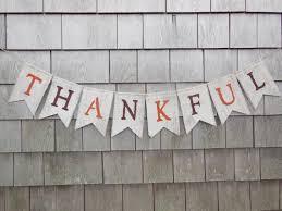 thanksgiving decor thanksgiving banner thankful burlap