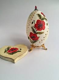 decorated goose eggs decorated goose egg weddin gift pysanky painted eggs drilled