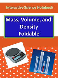 interactive science notebook foldable on mass volume and density