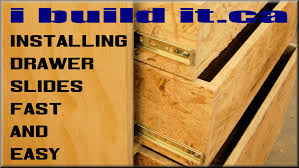 How To Make Pull Out Drawers In Kitchen Cabinets Installing Drawer Slides Fast And Easy Youtube