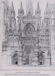 design for the front elevation of the cathedral strasbourg