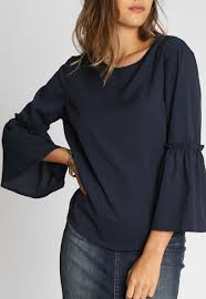 navy blouse bell sleeves blouse in navy look stunning seal