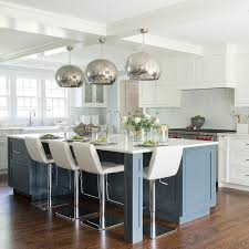 glass pendant lighting for kitchen islands blue kitchen island with mercury glass pendant lights regard to