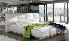 miami modern platform bed with storage in white free shipping