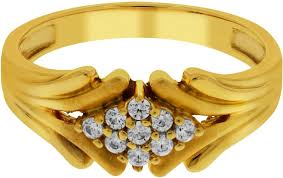 couple rings gold images Kalyan jewellers couple ring gold cubic zirconia 22k yellow gold jpeg