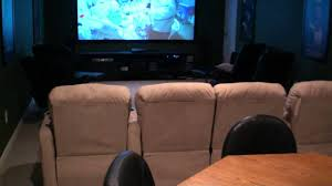 home theater pub room game room high def projector detailed