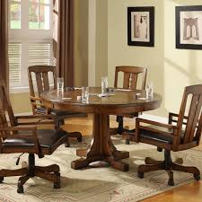 Dining Room Chair Casters Dining Sets With Casters On Chairs Piece Dinette Set With Caster
