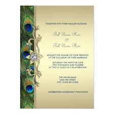 peacock invitations emerald green and gold peacock wedding card zazzle